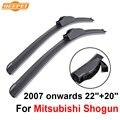 "Qeepei limpiaparabrisas cuchillas para mitsubishi shogun 2007 en adelante 22 ""20"" alta calidad iso9001 caucho natural frente limpia parabrisas f03"