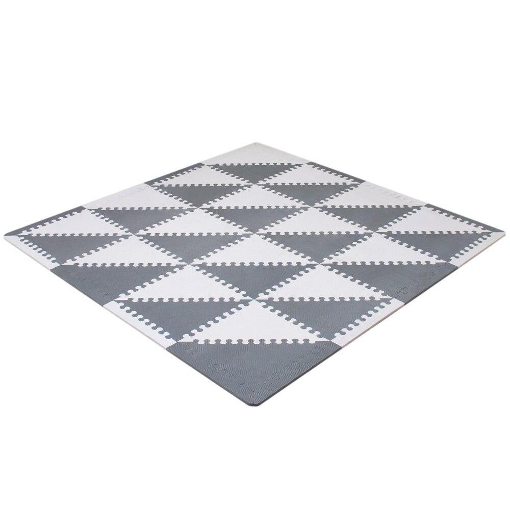 Mei qi cool bébé Puzzle EVA mousse tapis enfants ramper tapis de jeu enfants tapis de jeu Gym sol doux jeu tapis triangle 35 CM * 1 CM gris - 6