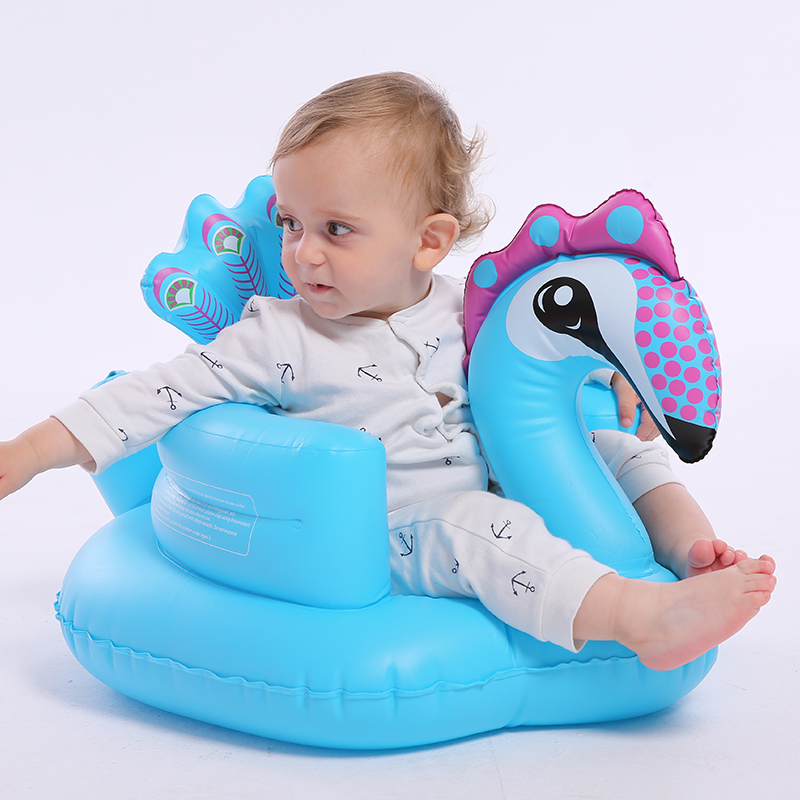 Videurs gonflables de chaise d'apprentissage de bébé de sofa, sauteurs BB anti-fal dinant la chaise petit sofa portatif de bébé