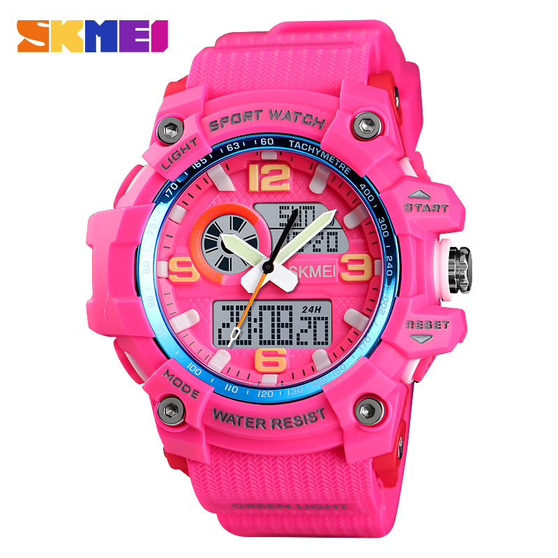 SKMEI Women Watches Ladies Digital Wristwatch 3 Time Countdown Waterproof PU Fashion Sport Watch 2019 Reloj Mujer Women Watches