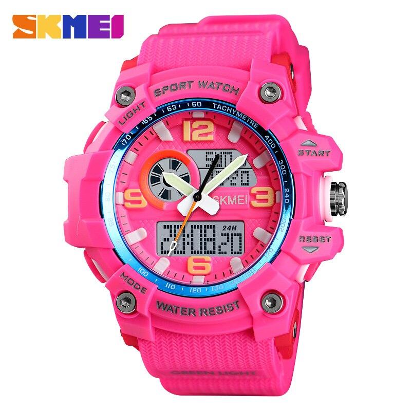 SKMEI Women Watches Ladies Digital Wristwatch 3 Time Countdown Waterproof PU Fashion Sport Watch 2019 Reloj Mujer Women Watches