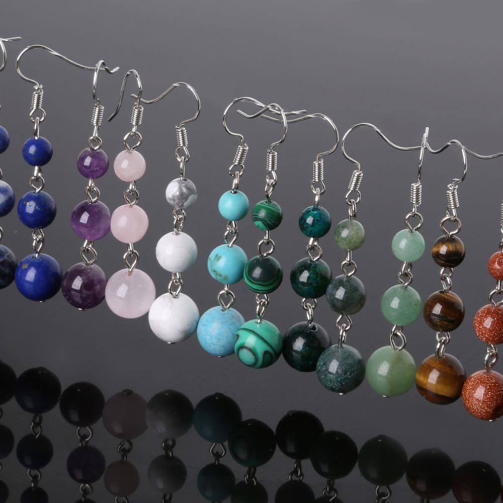women artilady earrings natural stone products jewelry