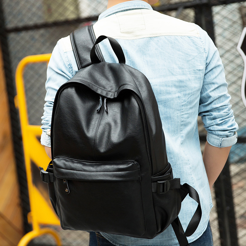 Tara Sergy Wholesale Man Backpack 2017 Men Bags Leather Shoulder Bag Black Casual Travel Backpacks Waterproof Big Mochilas tara 618 sonex