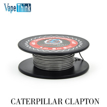 AUTHENTIC Vapethink Steam Shark CATERPILLAR CLAPTON 28GA X 2 + 32GA HEATING WIRE FOR RBA – SILVER, 0.32 X 2 + 0.2MM, 3M (9 FEET)