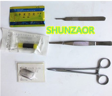 SHUNZAOR 6 pieces of skin suture silicone head skin micro teaching teaching props