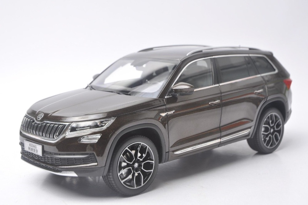 1:18 Diecast Model for Skoda Kodiaq 2017 Brown SUV Alloy Toy Car Collection Gifts 1 18 scale diecast model car for nissan livina green alloy toy car collection gifts