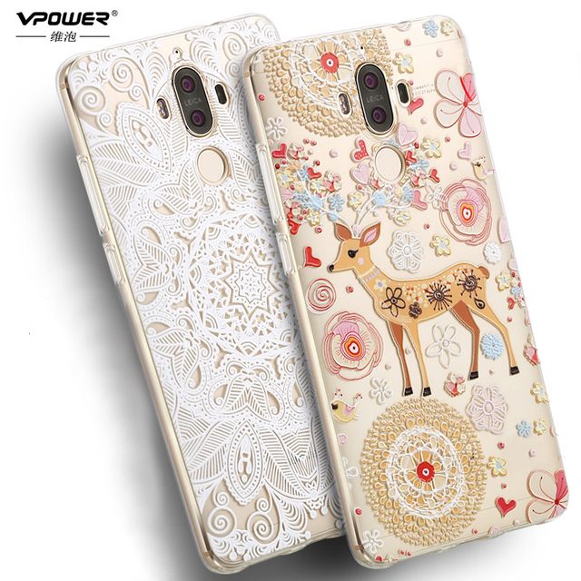 Vpower for Huawei Mate 9 Case 3D Relief tpu cartoon cover for...