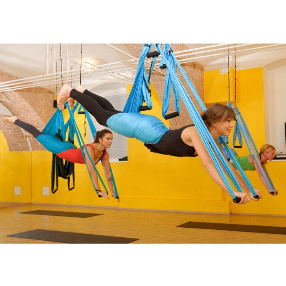 Aerial Yoga Hommock Swing Multifunction Anti-gravity Yoga Belt Gym Swing Sling Hammock Trapeze For Joyful Inversion Tool aerial anti gravity yoga belt w elastic orange