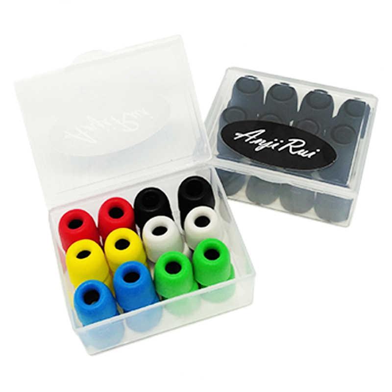 12 par 24 Piezas Rojo Espuma Auriculares Almohadillas de reemplazo Esponja Cubiertas para Auricular