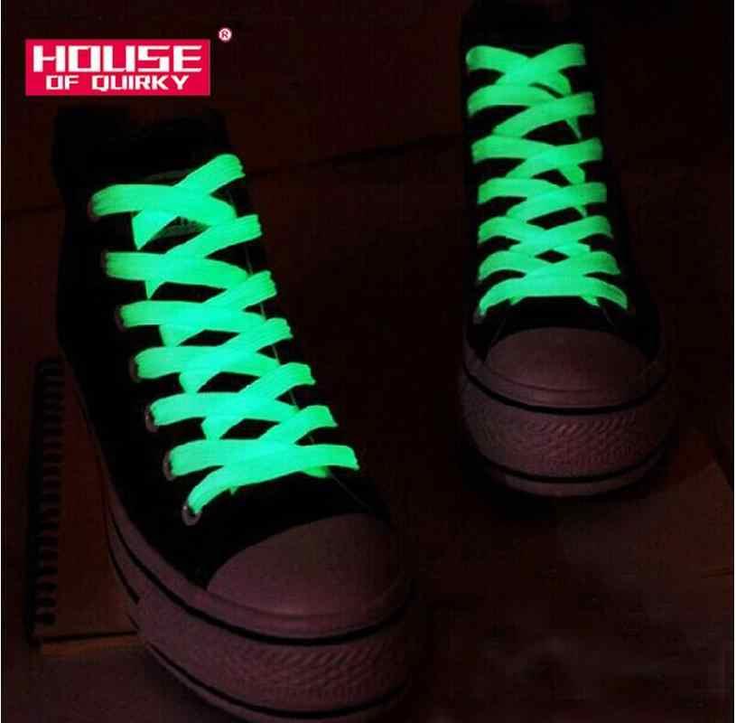 1 คู่ 120 ซม.กีฬาส่องสว่างอุปกรณ์เสริมเชือกผูกรองเท้าเรืองแสงใน Dark ปรับปรุงความสามารถในการจัดการของขวัญเด็กรองเท้าส่องสว่าง