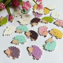 50 шт Ежик кнопки для домашнего декора разноцветные поделки скрапбук принадлежности для рукоделия