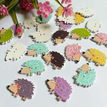 50pcs Hedgehog buttons for home deco mix color multicolor DIY scrapbook craft supplies