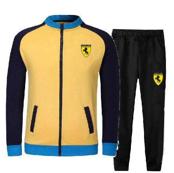 Men's Gym TrackSuit Sport Jacket Suit Set Trousers Jogging Bottom Top Sweatsuits Blazer Train Track Suit 5 Colors