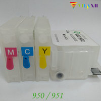 For HP 950 951 Empty Refillable Ink Cartridges For HP Pro 8100 8600 8620 8610 8630