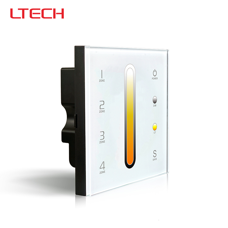 ФОТО D6 color temperature touch panel led controller,DC12-24V input,DMX512 output for R4-5A/R4-CC Wireless receiver and DMX lamp
