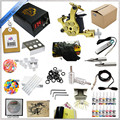Professional Tattoo Kit 1 Premium Tattoo Machine Guns 14 Tattoo Inks Power Supply Needle Paper Kit Case