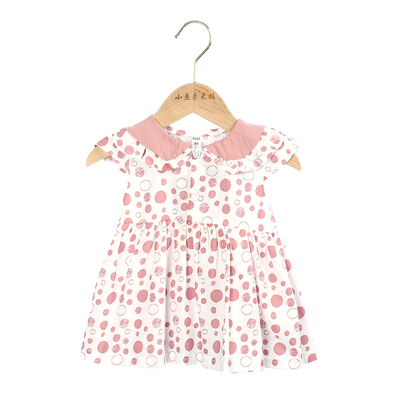 0 5 3yeas Casual Summer Baby Girl Dress Cotton Print Floral Bow Infant Girl Dresses Toddler Baby Girl Clothes in Dresses from Mother Kids
