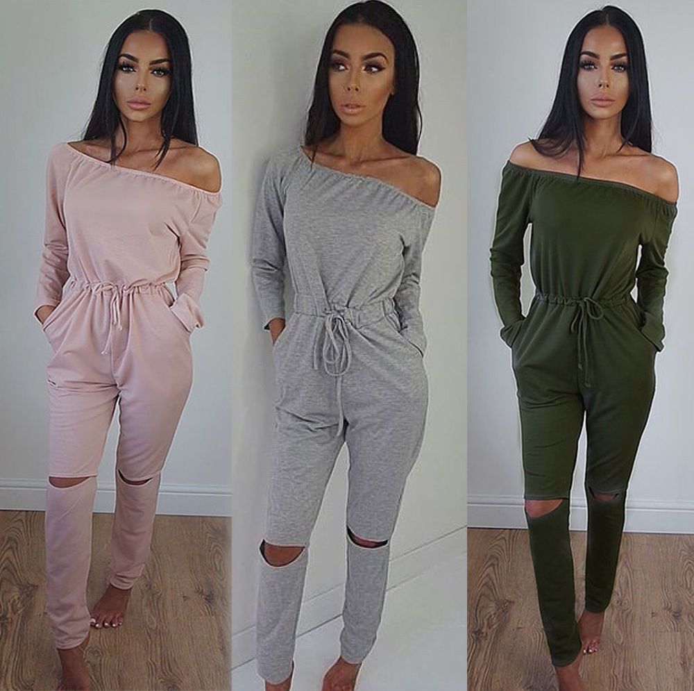 Hirigin 2017 Fashion Autumn Women Jumpsuits Long Sleeve Solid Rompers Womens High Waist Belt Rompers For Women Plus Size S-3XL