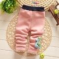 Новый Новорожденных Девочек Зимние леггинсы хороший хлопок мягкий теплый толщина детские брюки Брюки B040