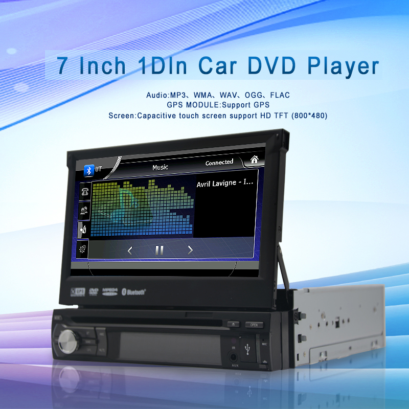 Universal 1 din Car dvd gps navigation for Universal car dvd player car radio car multimedia stereo audio SD USB Bluetooth