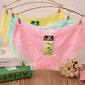 Free shipping women's panties 5 pieces high quality fashion underwear girl's lace briefs comfortable bamboo fiber underpants