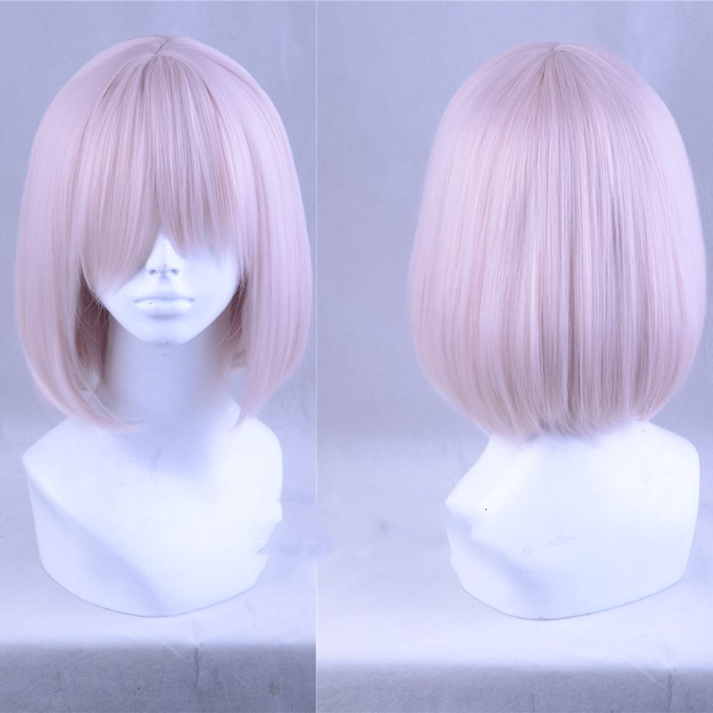 Amicable Halloween Fate/grand Order Matthew Kyrielite Pink Cosplay Wig Shielder Role Play