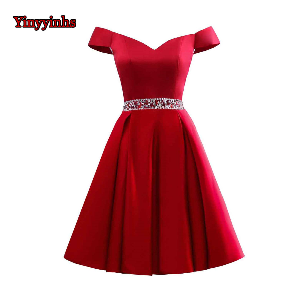 Yinyyinhs Short   Prom     Dresses   2018 Sexy Backless Off Shoulder   Prom   Gown Formal   Dress   Occasion Party   Dresses   Robe De Soiree CG39