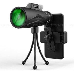 Image 2 - 単眼ズーム 12 × 50 プロの望遠鏡hdナイトビジョン単眼狩猟光学スコープ電話ホルダー/三脚turizmスパイグラス