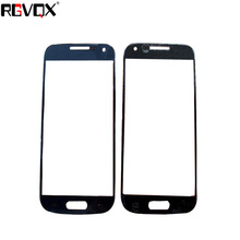 New Front Panel For Samsung Galaxy S4 Mini Mini i9190 i9195 i9192 Touch Screen Sensor Digitizer Outer Glass Repair White Black sports stylish gym armband case for samsung galaxy s4 mini i9190 black