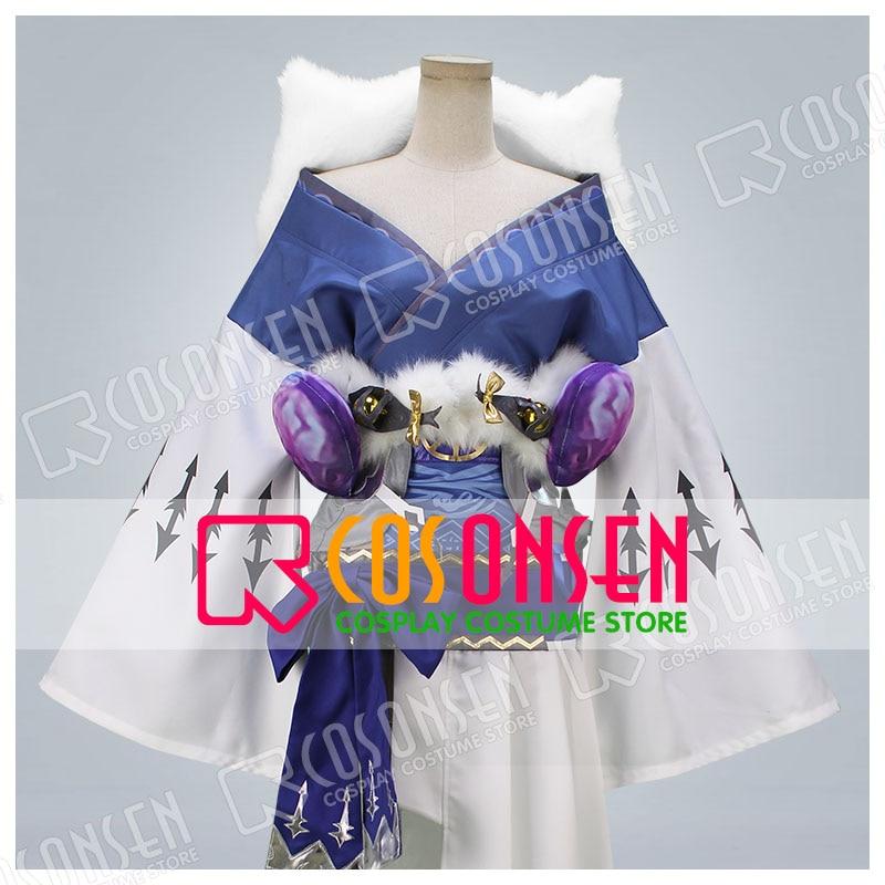 Hot Game SINoALICE Alice Kaguya Kimono Fance Dress Cosplay Costume COSPLAYONSEN All Size
