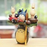 Anime Cartoon Action-figuren Spielzeug Hayao Miyazaki PVC TOTORO Familie Modell Spielzeug Juguetes mit BOX Ausgezeichnete Geschenk