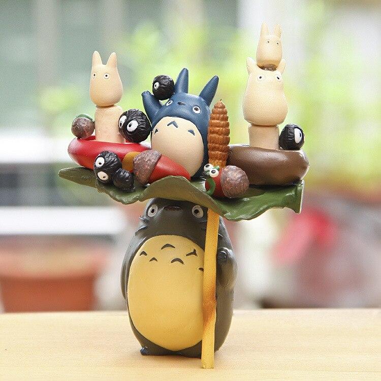 Anime Cartoon Figurines Jouet Hayao Miyazaki PVC Famille TOTORO Modèle Jouets Juguetes avec BOÎTE Excellent Cadeau