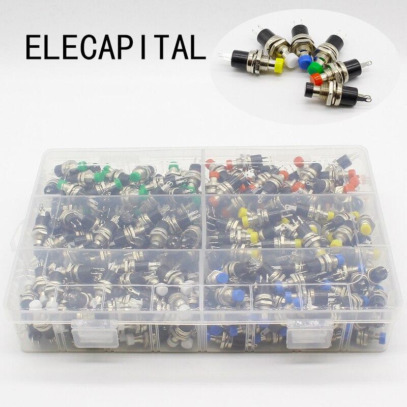 300 pièces 7mm bouton-poussoir momentané interrupteur appuyez sur l'interrupteur de réinitialisation momentané bouton-poussoir Micro-interrupteur normalement ouvert non