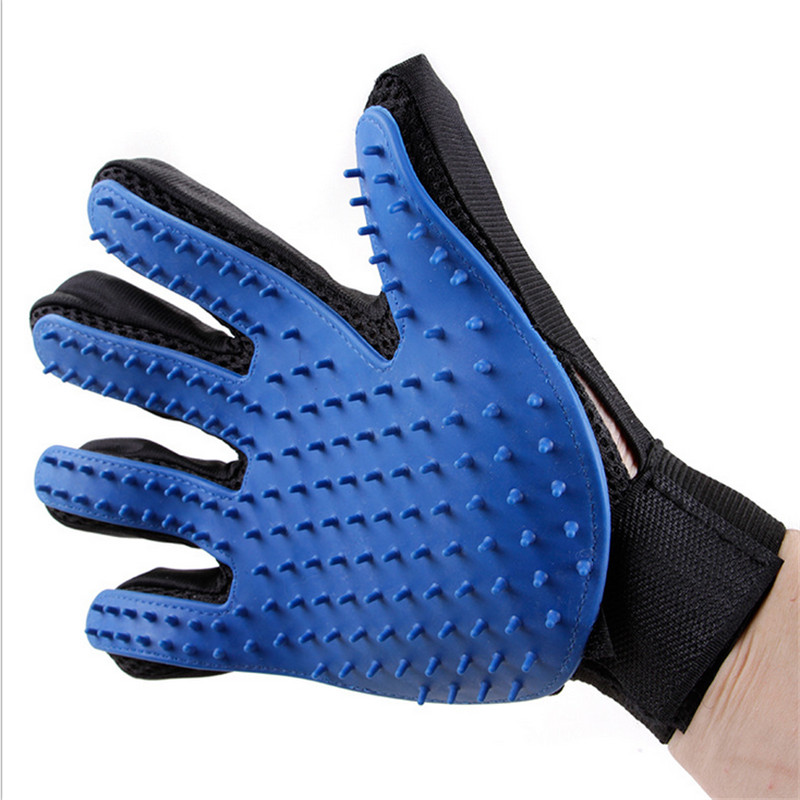 <font><b>2017</b></font> New 1pcs Blue Silicone Five Fingers Gloves <font><b>Pet</b></font> <font><b>Hair</b></font> <font><b>Removal</b></font> Gloves Deshedding <font><b>Tool</b></font> <font><b>Pet</b></font> Care <font><b>Tool</b></font> for <font><b>Pet</b></font> <font><b>Dog</b></font> <font><b>Cat</b></font>