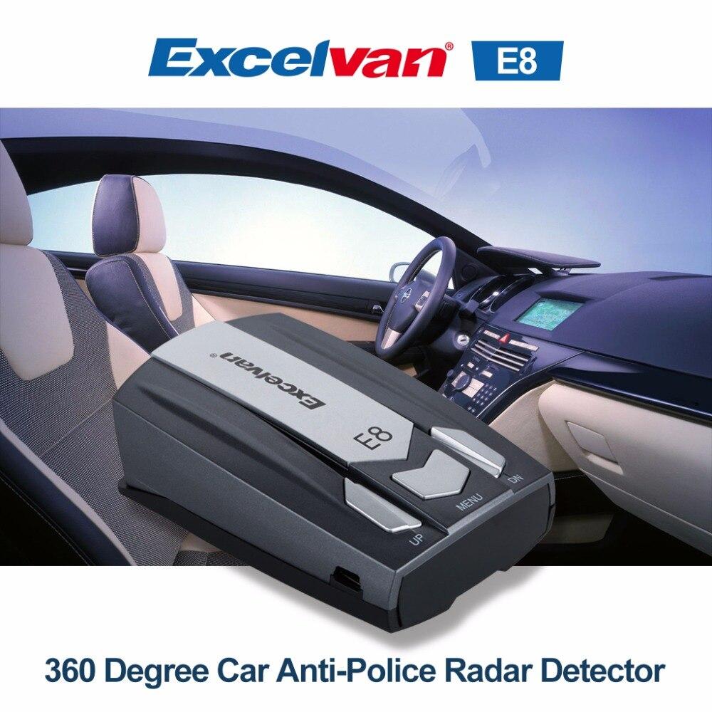imágenes para Excelvan E8 Detector Del Radar Del Coche de 360 Grados 16 Full Speed Banda de Seguridad Anti-Policía Alerta de Voz Láser de Escaneo Avanzadas Pantalla LED