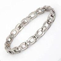 38 New Elegant Women's Full Neodymium Magnetic Zircon Bracelets On Sale Stainless Handmade Star Charm Bracelets Love Hand Chain