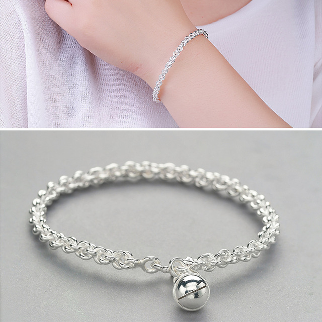 Factory Direct Sales S925 Silver Bracelet Female Fashion Linen Bracelet Bracelet