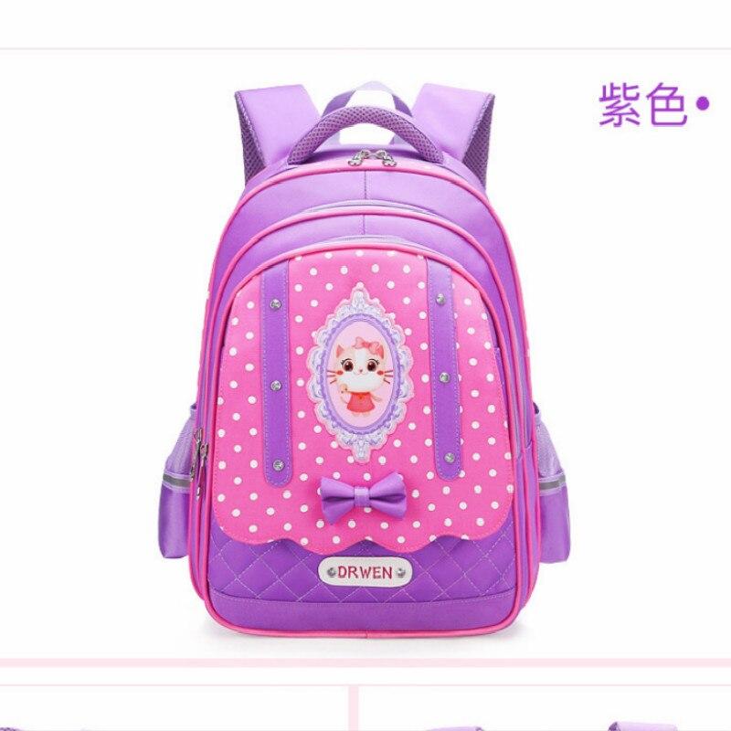 Детская Школьные ранцы Обувь для девочек Дети Сумка Основной Рюкзак принцесса ортопедический рюкзак школьный Дети Mochila Infantil SAC Enfant