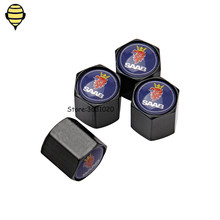Car Accessories Auto Wheel Tire Valve Stem Caps for SAAB 92 93 GT750 94 95 96 Sport Formula Sonett Junior PhoeniX 9-2X 9-3 97X gt750 genuine
