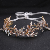 The Bride Adorn Article Leaf Shape Diamond Alloy Hair Band The Bride Wedding Accessories With The