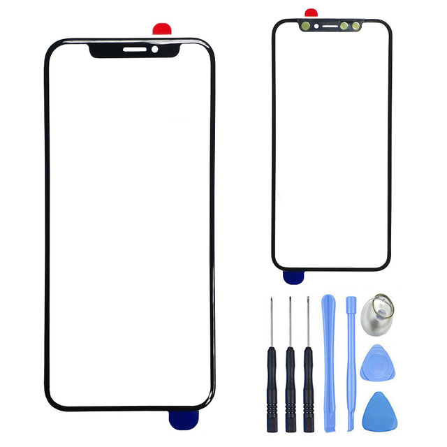 "Replacement LCD Screen Front Glass For iPhone X 5.8"" Touch Screen Outer Glass Lens Panel Cover + Free Repair Tools"