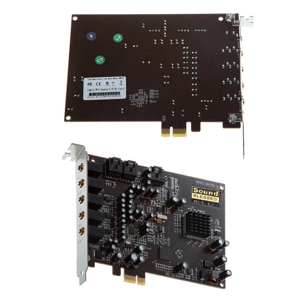 PC Computer PCI-E 0105 Chip 501 Sound Track DirectSound 3D Desktop Audio Karte