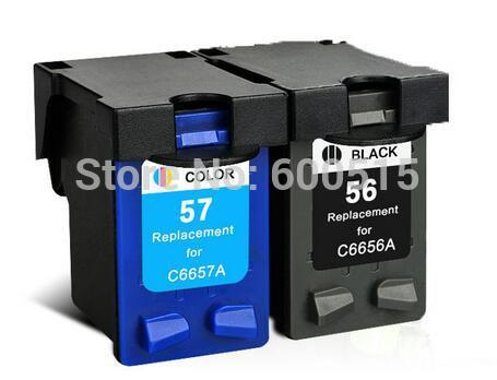 2pcs Compatible ink cartridge HP56 HP57 for Deskjet 450Ci 450Cbi 450wbt 5150 5550 5650 5652 9600