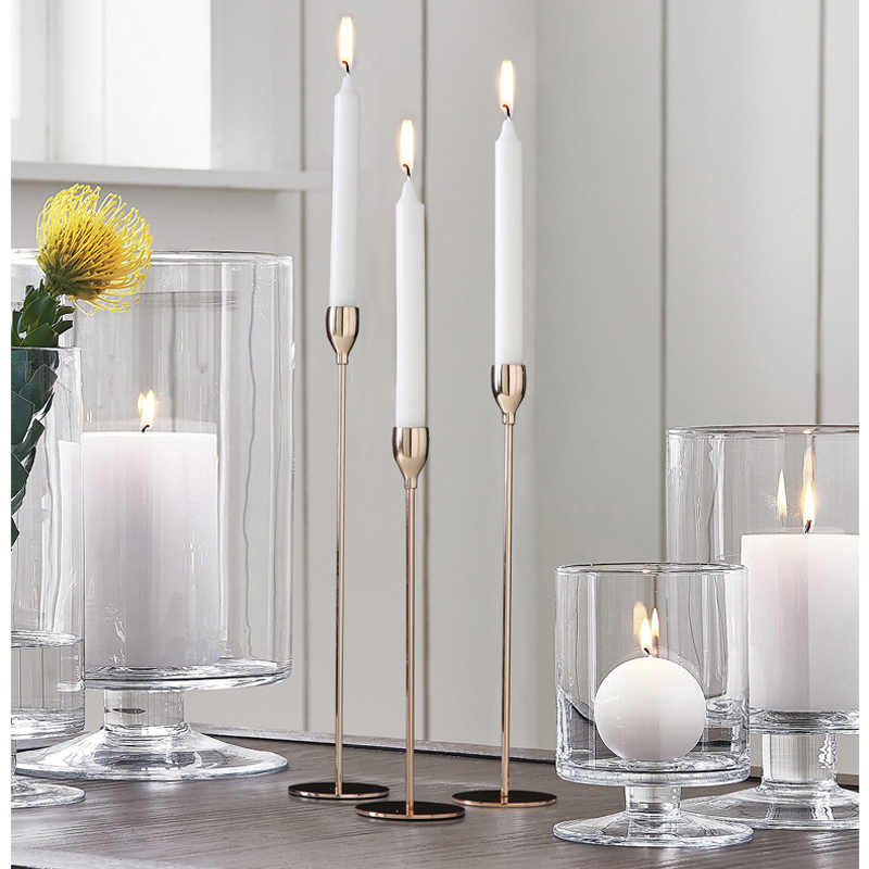 Shining Party Golden Metal Candle Holders, Wedding Centerpieces, Candlestick, Wedding Party Christmas Bar Home Decoration
