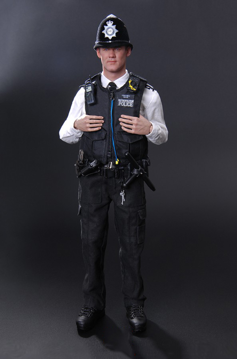 1/6 Scale British Metropolitan Police Service (MPS)  Action Figure Model With Accessories for Collections 1 6 soldier action figure the dark zone agent renegad with weapon model accessories full set collections