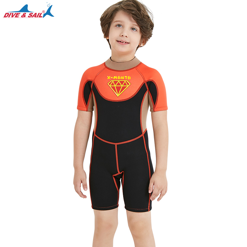 8b63e8e012702 2018 Neoprene Wetsuits Kids Boys Girls Back Zipper One Piece Swimsuit UV  Protection Wet Suit Swimming Surfing Snorkeling Suits