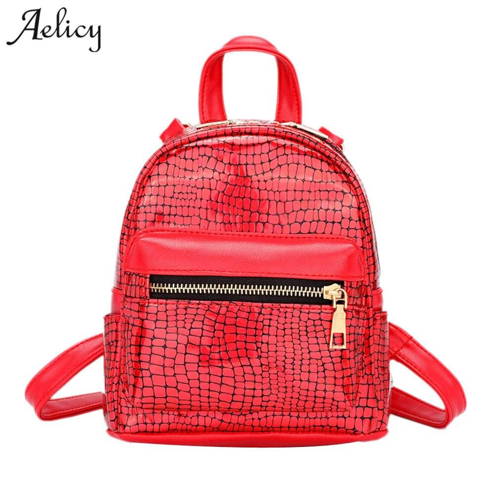 Aelicy New Arrival Women Mini Glitter Backpack Female Small Leather Black Bag Stylish Back Pack Backpacks for Teenagers Girls