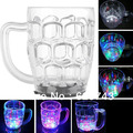 Free Shipping 2PCS LED Light-Up Flashing Drinkware Beer MUG 500ml,drink Beer Cup, LED Flashing Mugs,LED Drink Cup for Christmas