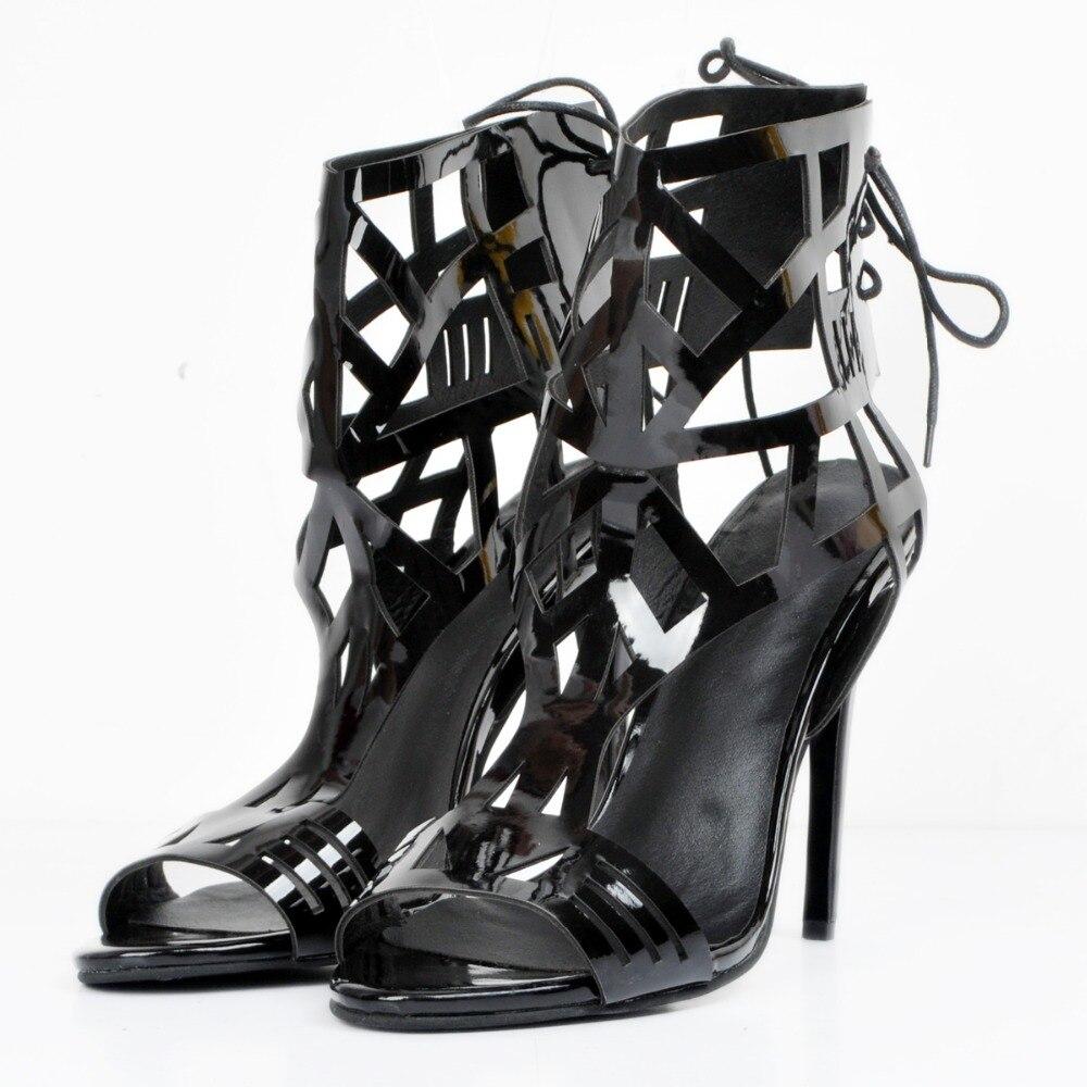 4 Plus 15 Élégant Femmes Sandales Initiale Xd106 Noir Us Taille Chaussures Talons Découpes Belle L'intention La Minces Orteil Ouvert Femme TqOpxxU