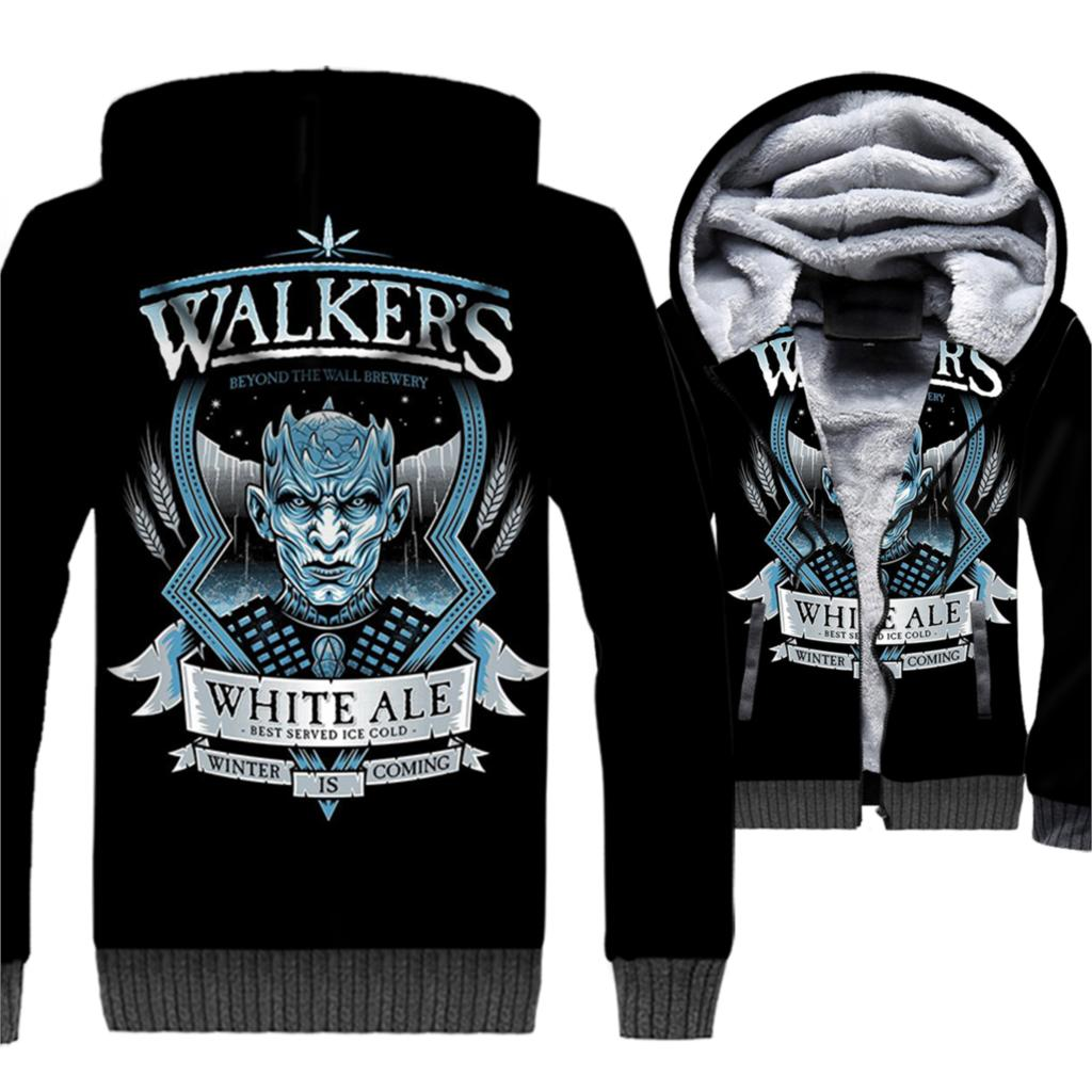 White Walkers The Night King Game Of Thrones Men 3D Hoodies 2019 Winter Warm Jackets Casual Thick Sweatshirts Brand Streetwear